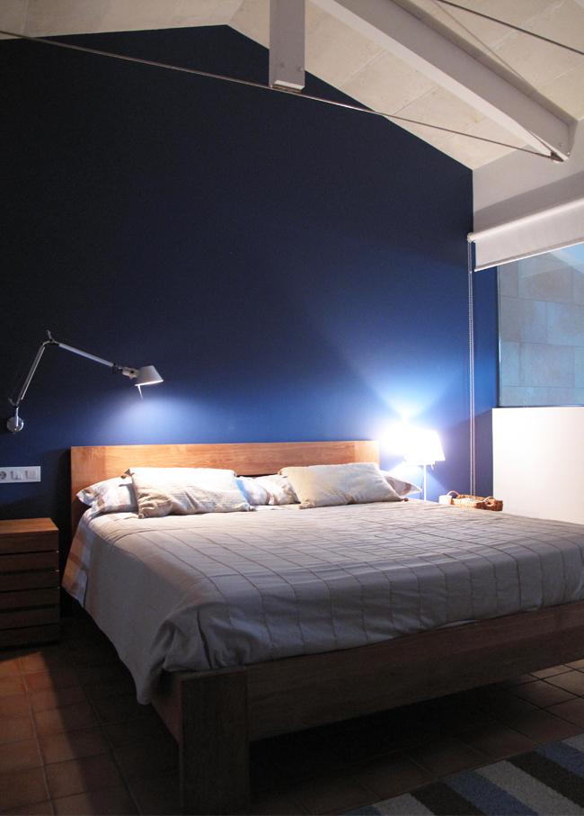 casa de verano habitación azul